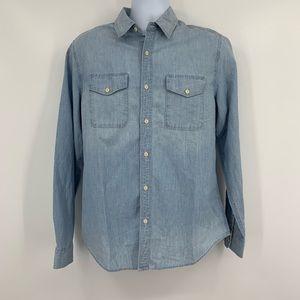 AG Jeans NWT Denim Chambray Button Down Shirt